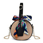 2019 Summer Bali Women Straw Bag Fashion Round Rattan Beach Handbag Shoulder Bag