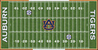 Auburn Tigers Electric Football Vinyl Field Cover Wall Art