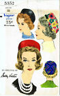 """Vogue 5352 Sally Victor Pillbox Hat Cap Fabric Sewing Pattern Chemo Alopecia 22"""""""