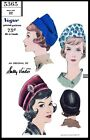 """Vogue #5365 Sally Victor Hat Cap Fabric Sewing Pattern Chemo Cancer Alopecia 22"""""""