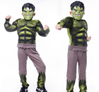 Deluxe Incredible Hulk Age 3-8 Boys Cosplay Dress Kids Marvel Avengers Costume ~