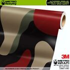 JUMBO MILITANT RED Camouflage Vinyl Vehicle Car Wrap Camo Film Sheet Roll