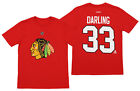 Reebok Chicago Blackhawks Scott Darling #33 NHL Boys Youth Tee, Red $7.99 USD on eBay