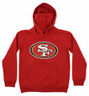 OuterStuff NFL Youth San Francisco 49ers Primary Team Logo Fleece Hoodie, Red $34.99 USD on eBay