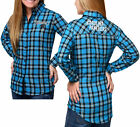 Forever Collectibles NFL Women's Carolina Panthers Check Flannel Shirt $34.95 USD on eBay