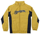 Majestic MLB Youth Milwaukee Brewers Double Climate Full Zip Jacket on Ebay