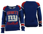 Forever Collectibles NFL Women's New York Giants Glitter Scoop Neck Sweater $34.99 USD on eBay