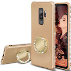 For Samsung Galaxy S9 Case S8 Plus S7 Thin Bling Diamond Stand Ring Holder Cover