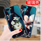 For i Phone XS Max XR Luxury 9H Hard Tempered Glass Case Mirror Glass Back Cover