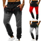 Men's Drawstring  Pants Fashion Sports Gym Workout Sweatpants Slim  Fit Trousers
