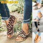 Womens Open Toe Slip On Side Cut Out Flat Sandals Casual Low Heel Beach  Shoes