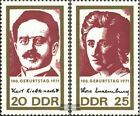 DDR 1650-1651 MNH 1971 Pink Luxembour