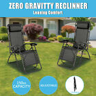 【20%OFF $42+】Zero Gravity Portable Recliner Lounge Folding Camping Beach Chair