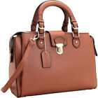 Dasein Satchel with Front Snap Lock Accent 4 Colors