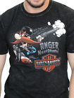 Harley-Davidson Looney Tunes Mens Yosemite Sam Mineral Wash Black T-Shirt image