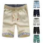 Mens Linen Loose Pants Beach Drawstring Yoga Casual Sport Bottoms Trouser