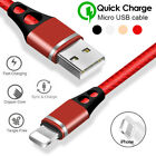 For i Phone XS XR X 8 7 6 1M/3.2FT Data Sync Fast Charging Charger Cable Cord