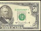 1981 $50 DOLLAR BILL LOW PRINT STAR FEDERAL RESERVE NOTE CURRENCY Fr 2120-D*