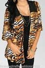 Brown Zebra/Tiger Retro Ombre Drape/Scarf Cover-Up/Tunic Plus 1XL 2XL 3XL