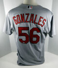 2015 St. Louis Cardinals Marco Gonzales #56 Game Issued Grey Jersey OT Patch