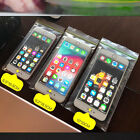 Flat Plastic Clear Green Yellow Zip Lock Bags Dustproof Pouches For Mobile Phone