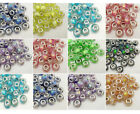 50pcs Colorful big hole Charm beads Fit DIY European Bracelet Jewelry beaded