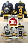 Free Shipping Men Buffalo Sabres 9 Jack Eichel Black White Stitched Jersey