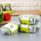 Living Rectangle Stainless Steel Lunch Boxes Dinnerware Food Storage Container
