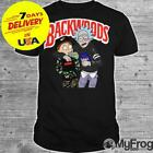 Rick And Morty Backwoods T-shirt Cotton Black Men All Size image