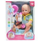 Realistic Baby Doll Play Set With Feeding Accessories Set Milk Bottle Girls Toy