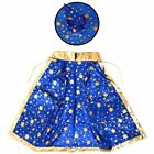 1X(Halloween Costumes Witch Wizard Cloak with Hat for Kids Boys Girls Blue F6Q2)
