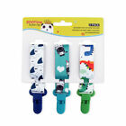 3pack Cute Pacifier/Soother Clips Fits All Pacifiers & Baby Teething Toys