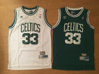 #33 Larry Bird Mens Throwback Boston Celtics Men's Basketball Jersey Green/White