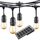 Ashialight Solar LED Outdoor String Lights with Hanging Sockets - Heavy Duty 10