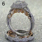 Women 925 Sterling Silver Plated Diamond Rings Wedding Engagement Ring Size Gift