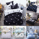 4Pcs Bedding Set Ultra Soft Pillow Cases Quilt Cover Twin Queen King (Cal) King image