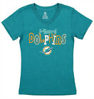Outerstuff NFL Youth Girls Team V-Neck Tee, Miami Dolphins $9.99 USD on eBay