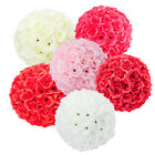 10PCS Flower Ball Wedding Bridal Kissing Rose Pomander Party Decor 6 Colours US