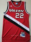 Clyde Drexler #22 Portland Trail Blazers 1983-84 Throwback Jersey - Black / Red