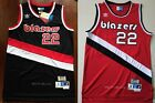 Clyde Drexler 22 Portland Trail Blazers 1983 84 Throwback Jersey Black Red