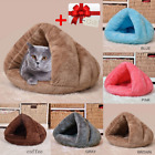 Cat Bed House Dog Bed House Warm Soft Indoor Bed With Crystal Collar Gift