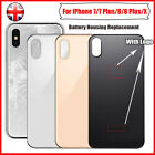 Rear Back Battery Housing Glass Door Cover Replacement for iPhone X & 7 8 plus
