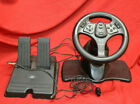 InterAct SV-380 V3 FX Black Racing Wheel N64 and Foot Pedals