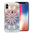 Bright Mix Mandala Printed Design Clear Gel Case Cover For Apple Iphone Models