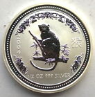 Australia 2004 Year of Monkey 50 Cents Silver Coin,UNC