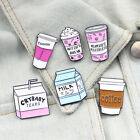 Cartoon Coffee Cup Milk Enamel Badge Collar Brooches Pin Clothes Jewelry Decor image