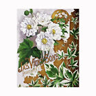 White Flowers Seed Packet Quilt Block Multi Sz FrEE ShiP WoRld WiDE (501B