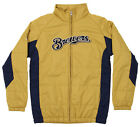 Outerstuff MLB Youth Milwaukee Brewers Double Climate Full Zip Jacket on Ebay
