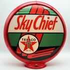 """TEXACO SKY CHIEF 13.5"""" Gas Pump Globe - SHIPS FULLY ASSEMBLED! MADE IN THE USA!!"""