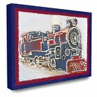 The Stupell Home Decor Collection Vintage Train Stretched Canvas Wall Art